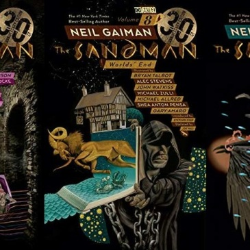 Covers for The Sandman volumes 7-9 by Neil Gaiman