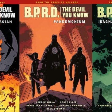 Covers for B.P.R.D. The Devil You Know Volumes 1-3 by Mike Mignola