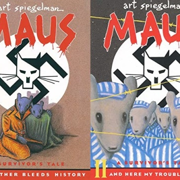 Covers for Maus I A Survivors Tale My Father Bleeds History and Maus II A And Here My Troubles Begin by Art Spiegelman