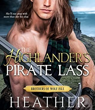 Cover for The Highlander's Pirate Lass by Heather McCollum